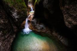 Kleine Wässerfälle im Almbachklamm