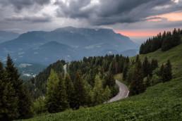 Blick auf der Panoramastraße, Berchtesgaden
